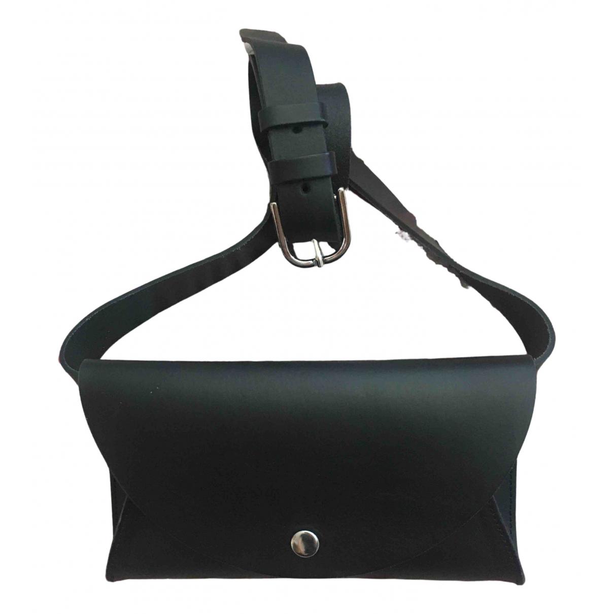 Cos \N Black Leather Clutch bag for Women \N