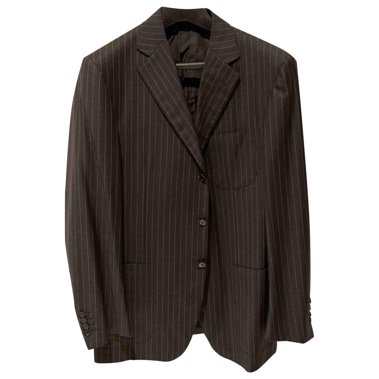 Pal Zileri \N Anzuege in  Grau Wolle