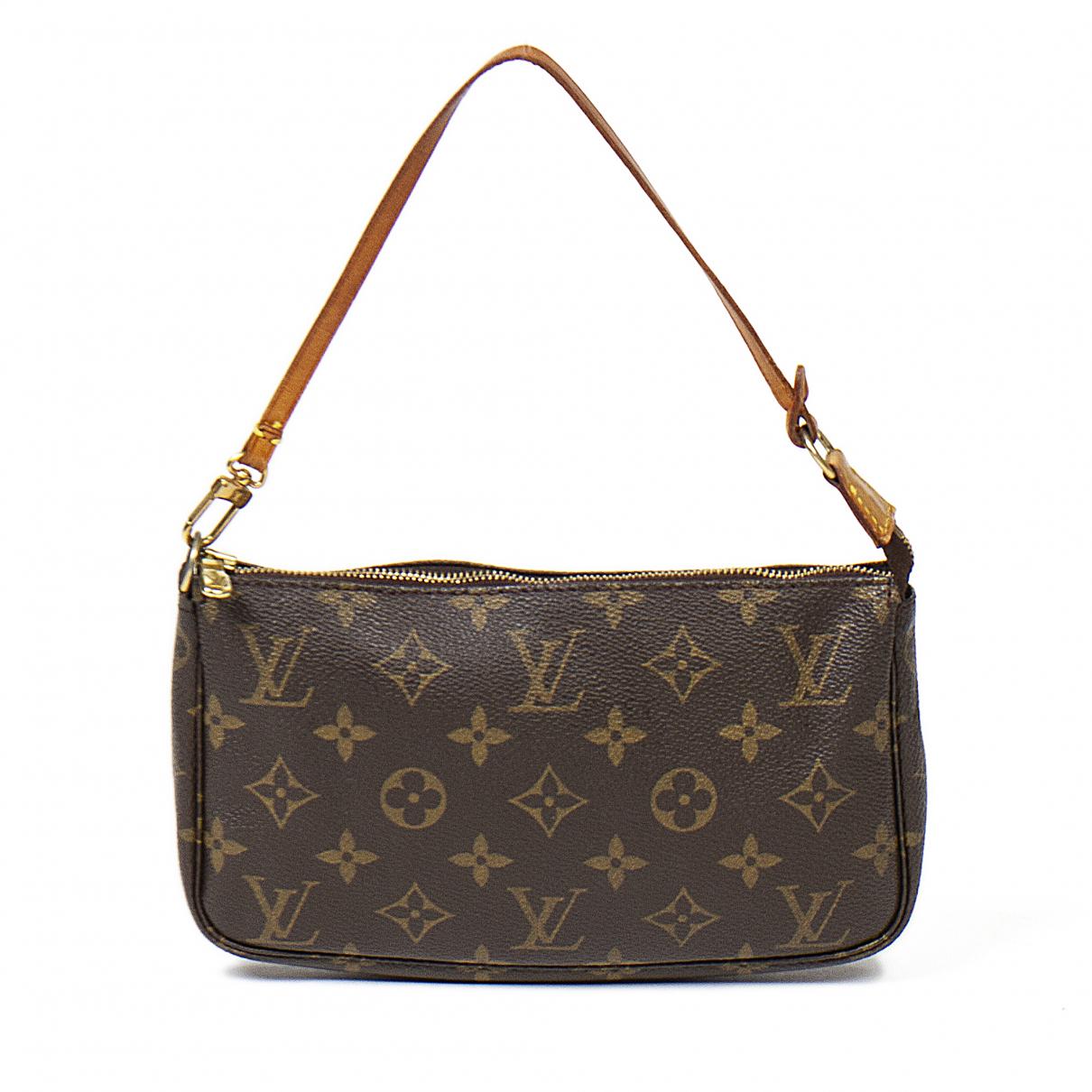 Louis Vuitton Pochette Accessoire Brown Cotton Clutch bag for Women \N