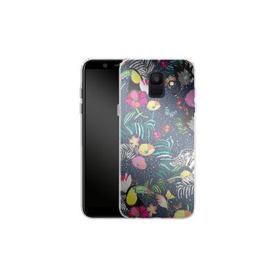 Samsung Galaxy A6 Silikon Handyhuelle - Jungle Glow von Mukta Lata Barua