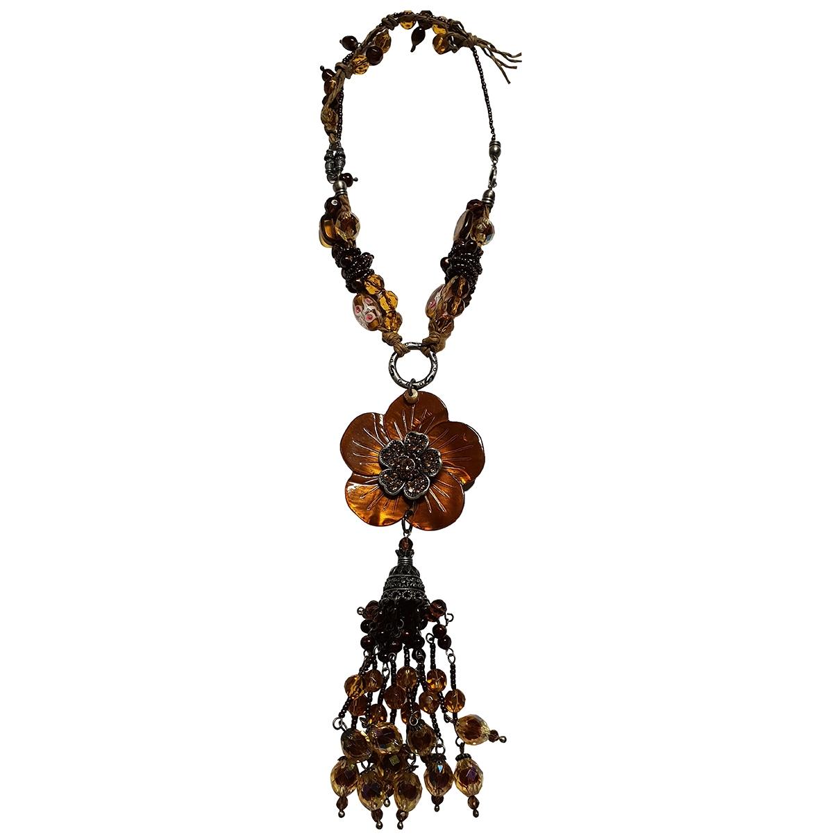 - Collier Motifs Floraux pour femme en verre - multicolore