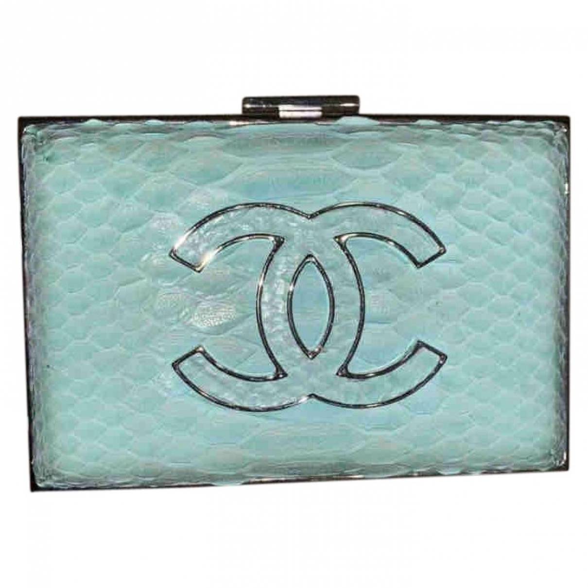 Chanel \N Turquoise Python Clutch bag for Women \N