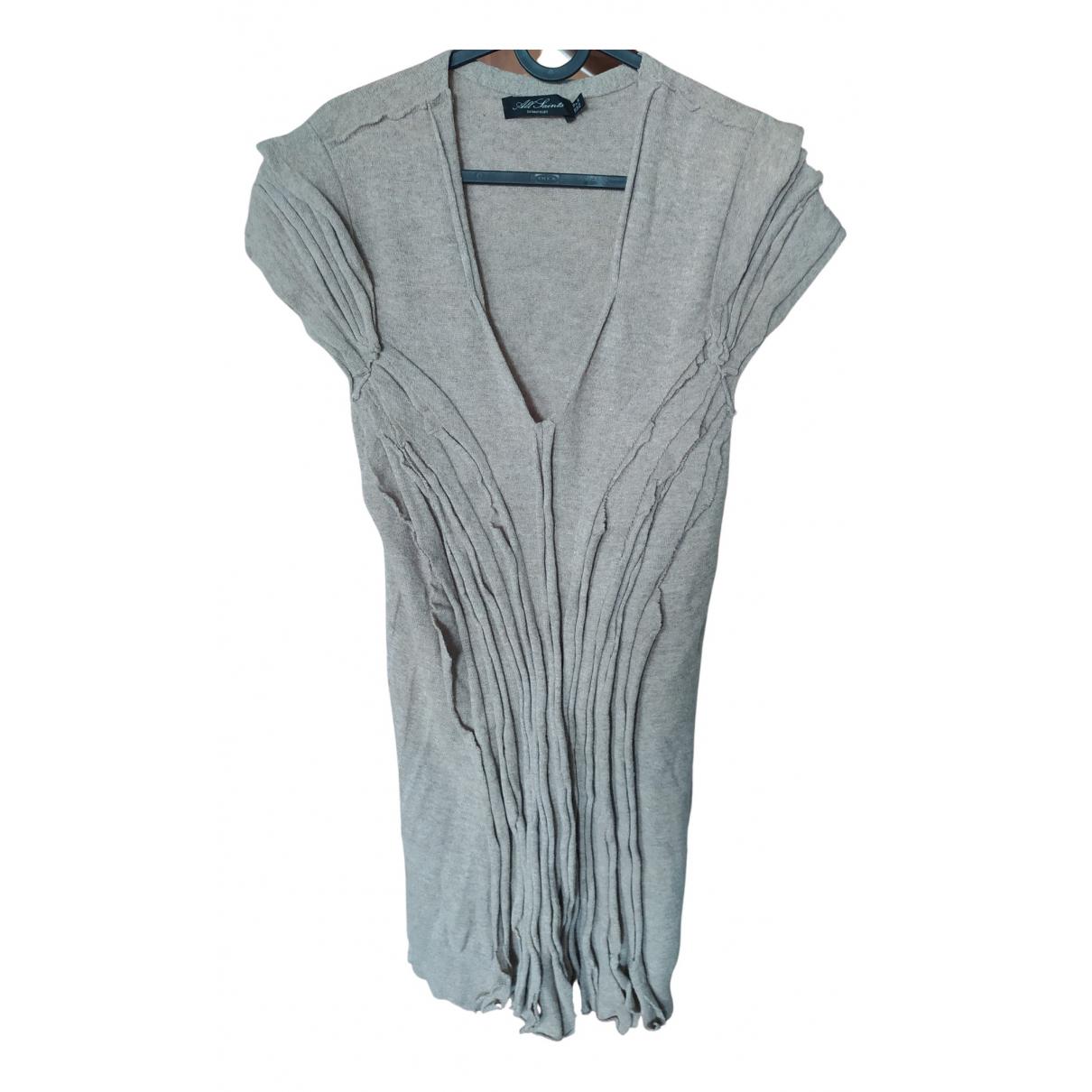 All Saints \N Kleid in  Beige Wolle