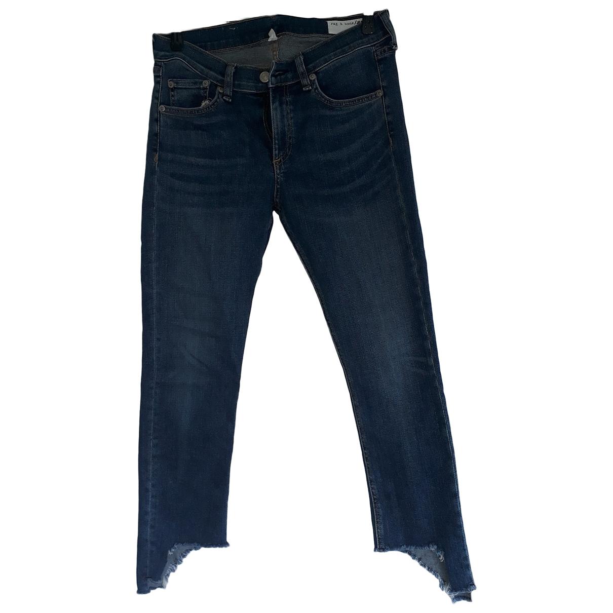 Rag & Bone \N Blue Cotton - elasthane Jeans for Women 28 US