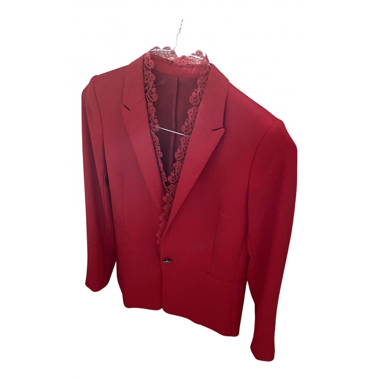 The Kooples - Veste Fall Winter 2019 pour femme en coton - rouge