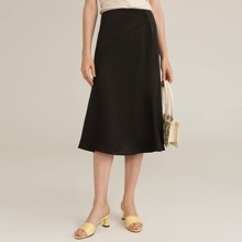 Solid Paneled Skirt