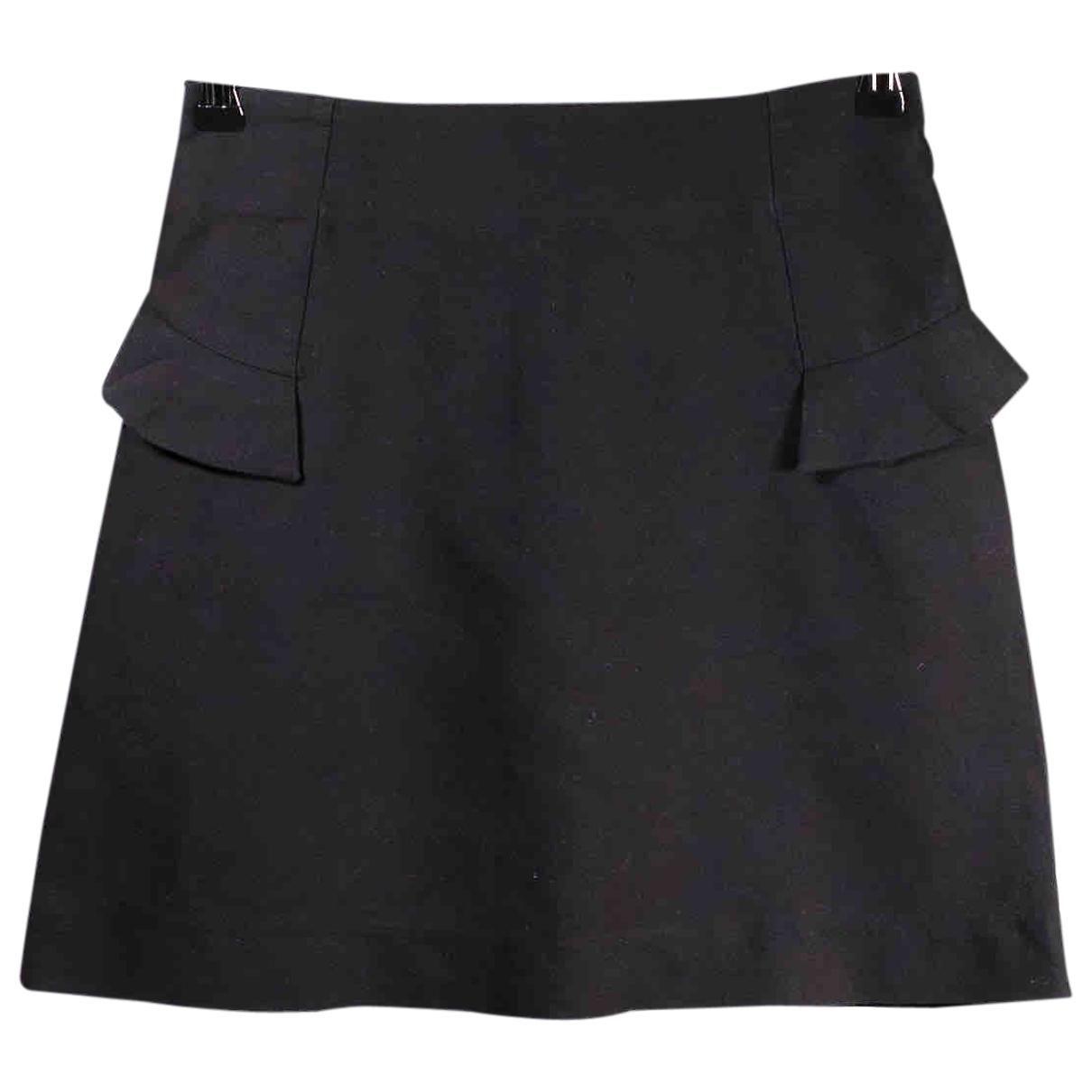 Sandro \N Black Cotton skirt for Women 36 FR