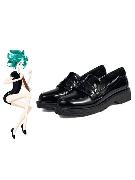 Milanoo Land Of The Lustrous Houseki No Kuni Phosphophyllite Cinnabar Diamond Bort Black Cosplay Zapatos
