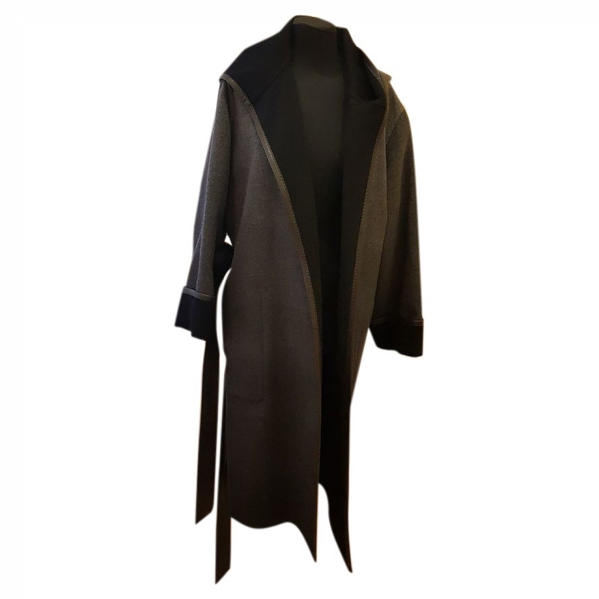 Hermès \N Grey Cashmere coat for Women 36 FR
