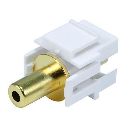 3.5mm Stereo Keystone Jack, Flush Type - White - Monoprice®