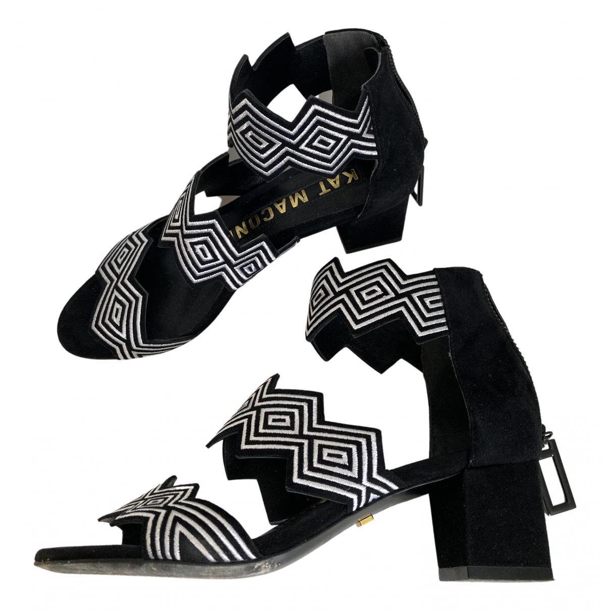Kat Maconie - Sandales   pour femme en suede - noir