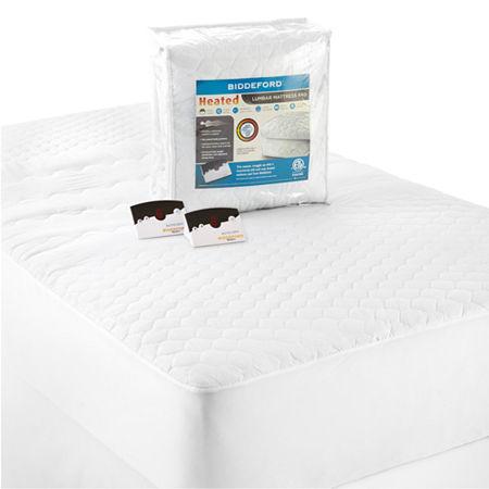 Biddeford Lumbar Support Heated Mattress Pad, One Size , White