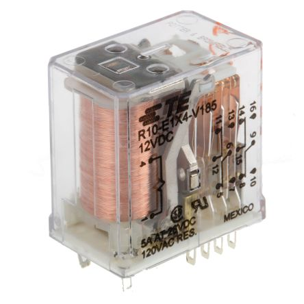 TE Connectivity , 12V dc Coil Non-Latching Relay 4PDT, 5A Switching Current Plug In, 4 Pole