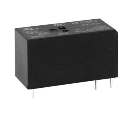 Hongfa Europe GMBH , 5V dc Coil Non-Latching Relay SPNO, 16A Switching Current PCB Mount Single Pole (2)