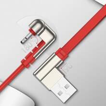 1 pieza cable de dato de movil de codo
