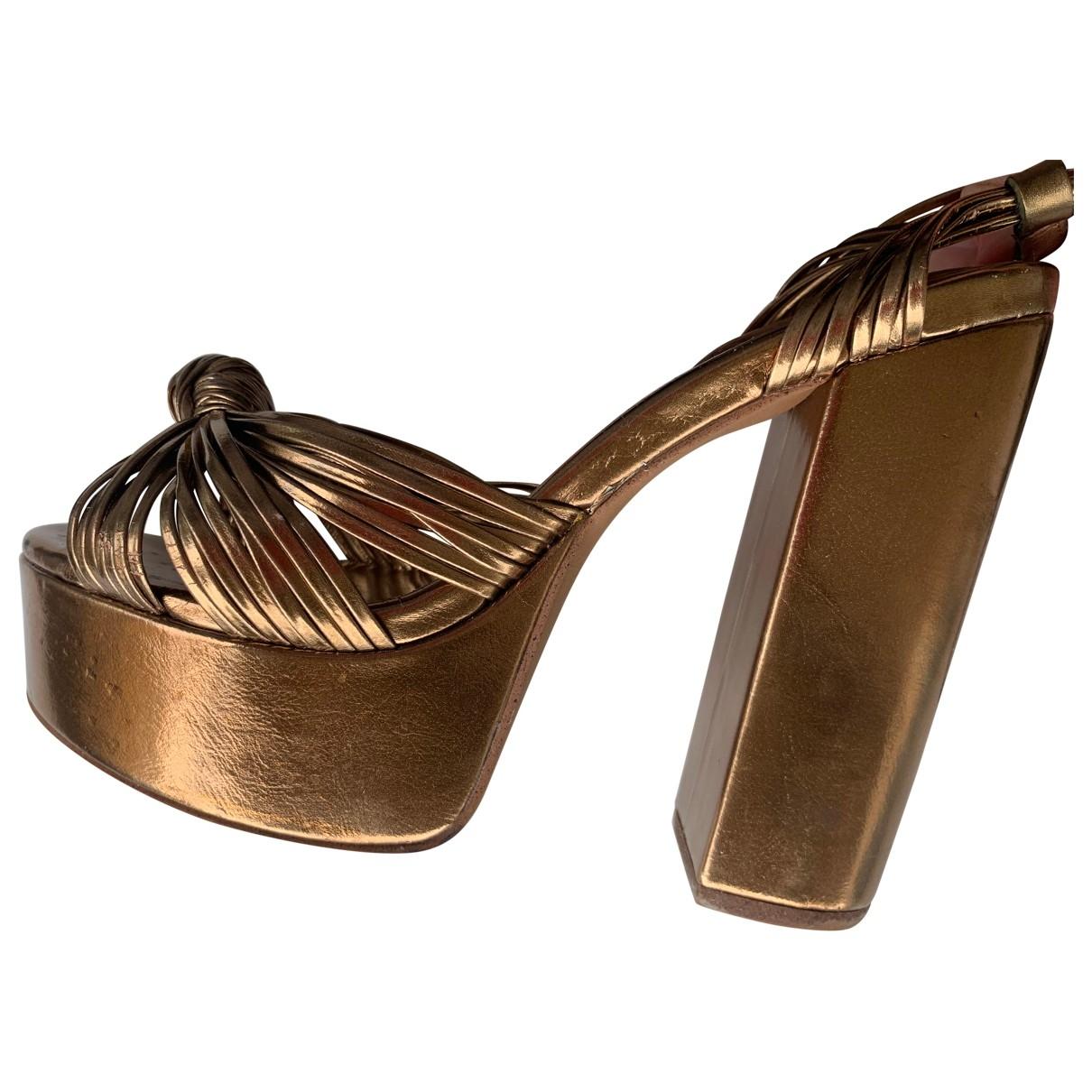 Jeffrey Campbell \N Sandalen in  Gold Leder