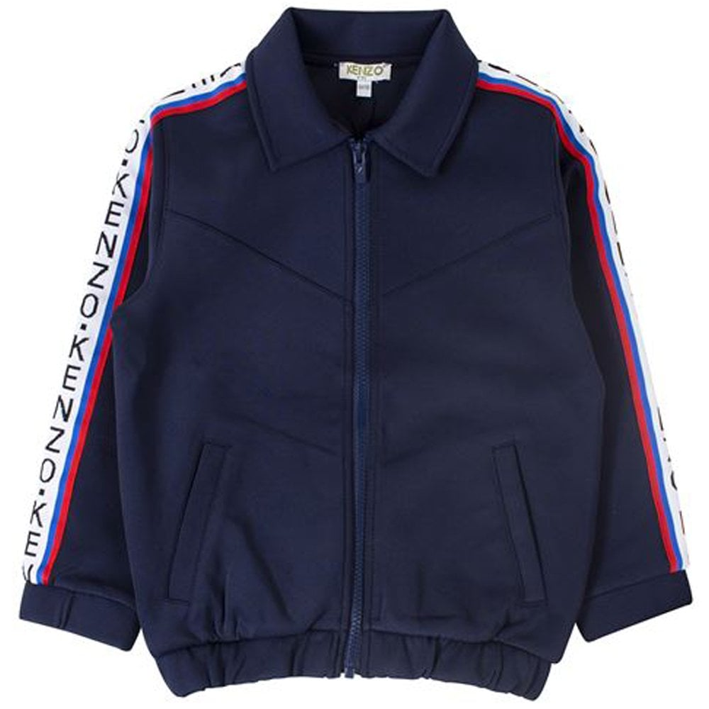 Kenzo Kids Garisson Zip-up Jacket Navy  Colour: NAVY, Size: 8 YEARS