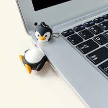 USB-Massenspeicher in Karikatur Pinguinform