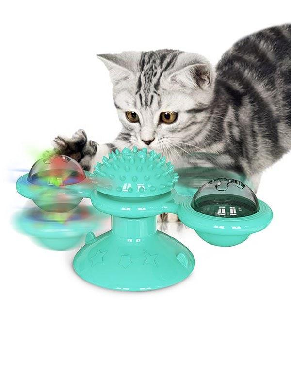 Pet Revolving Scratching Rub Brush Cat Toy