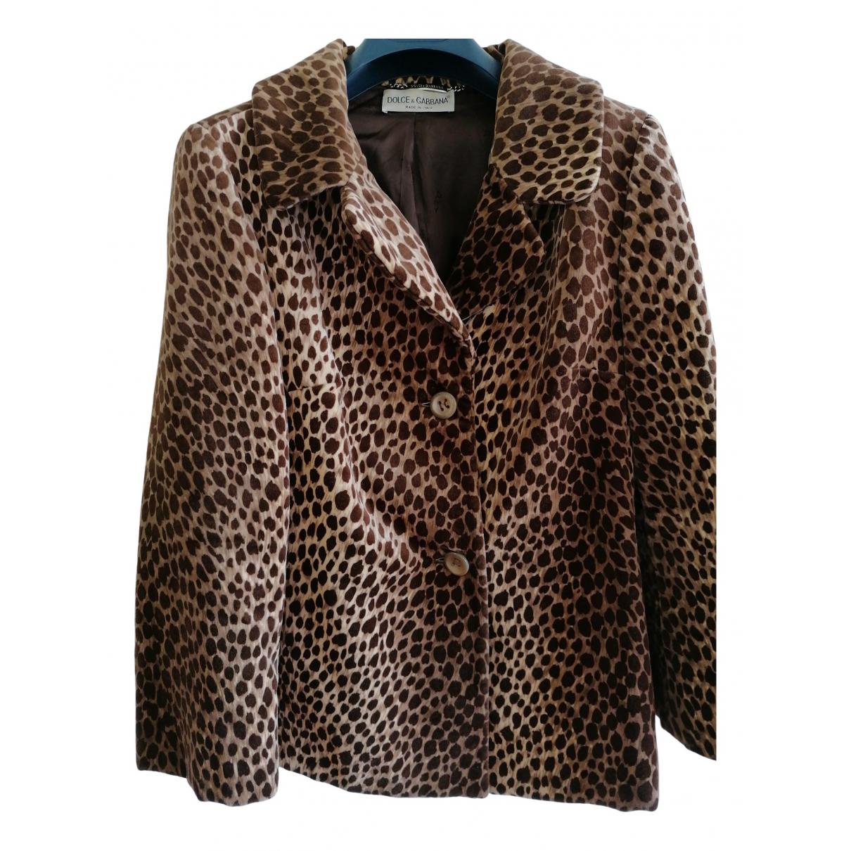 Dolce & Gabbana \N Brown Velvet jacket for Women 44 IT