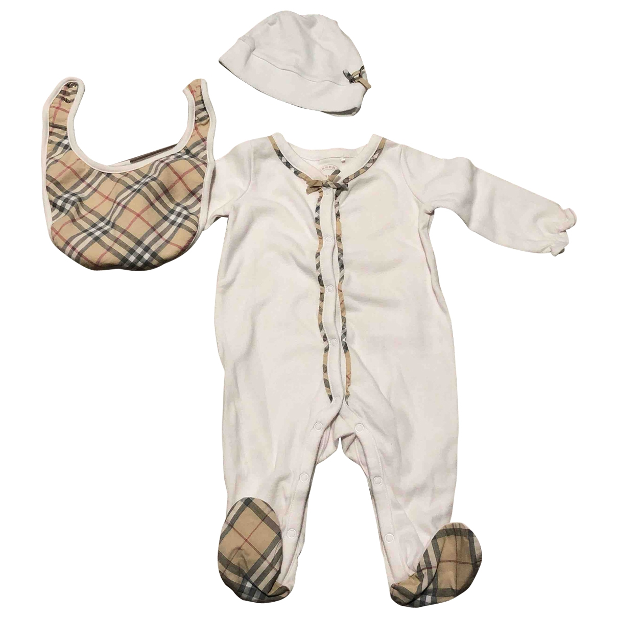 Burberry \N White Cotton Outfits for Kids 3 months - up to 60cm FR