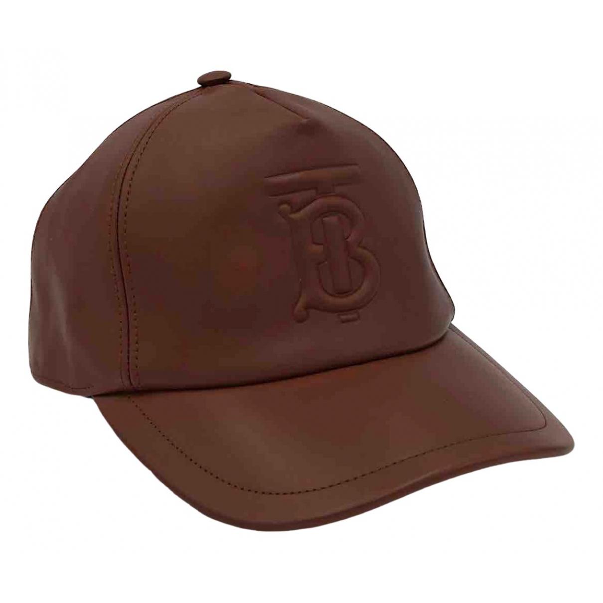 Burberry - Chapeau   pour femme en cuir - marron