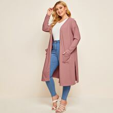 Mantel mit Riss, zwei Taschen und Schlitz