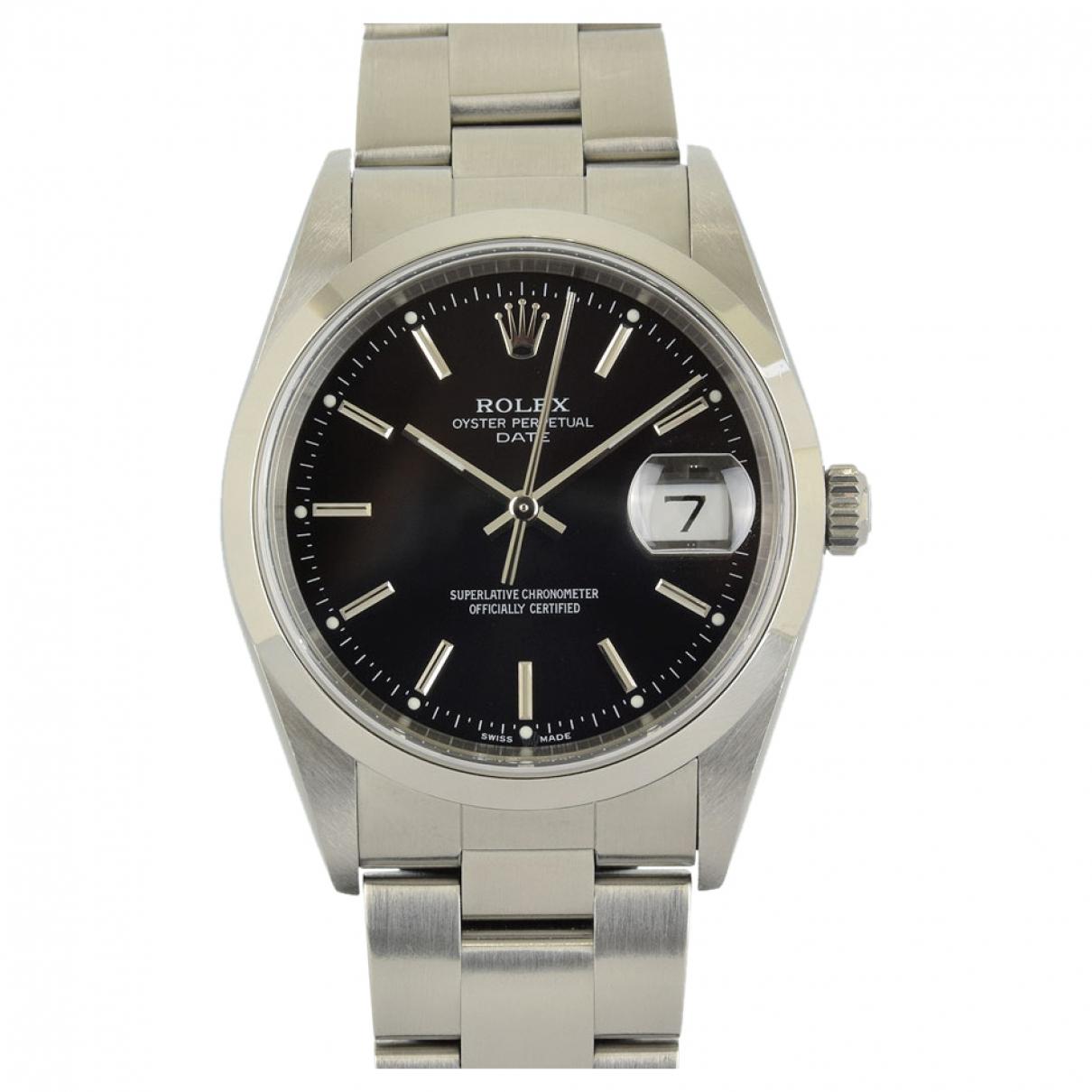 Rolex Oyster Perpetual 31mm Uhr in  Schwarz Stahl