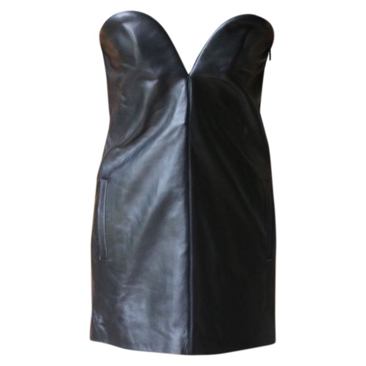 Saint Laurent N Black Leather dress for Women 38 FR