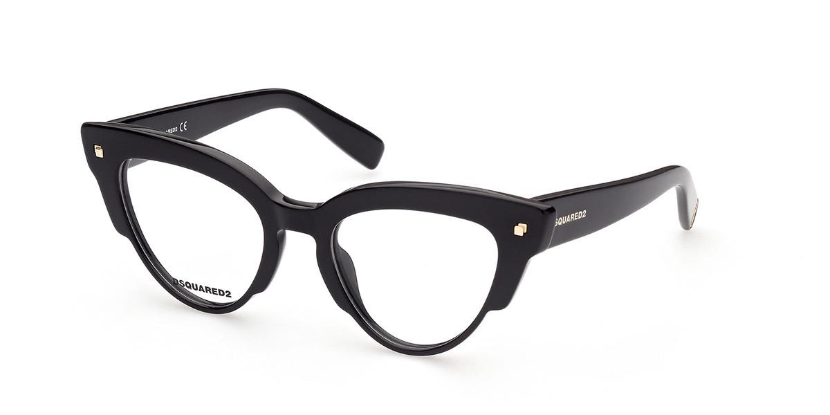 Dsquared2 DQ5343 001 Men's Glasses Black Size 49 - Free Lenses - HSA/FSA Insurance - Blue Light Block Available