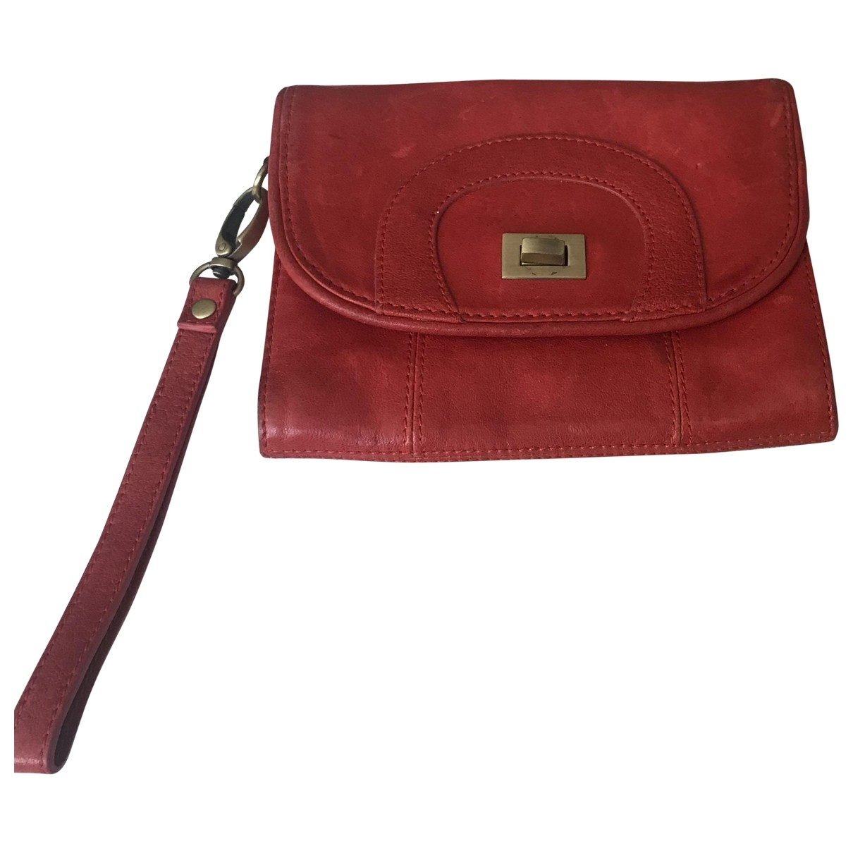 Sandro \N Red Leather Purses, wallet & cases for Women \N