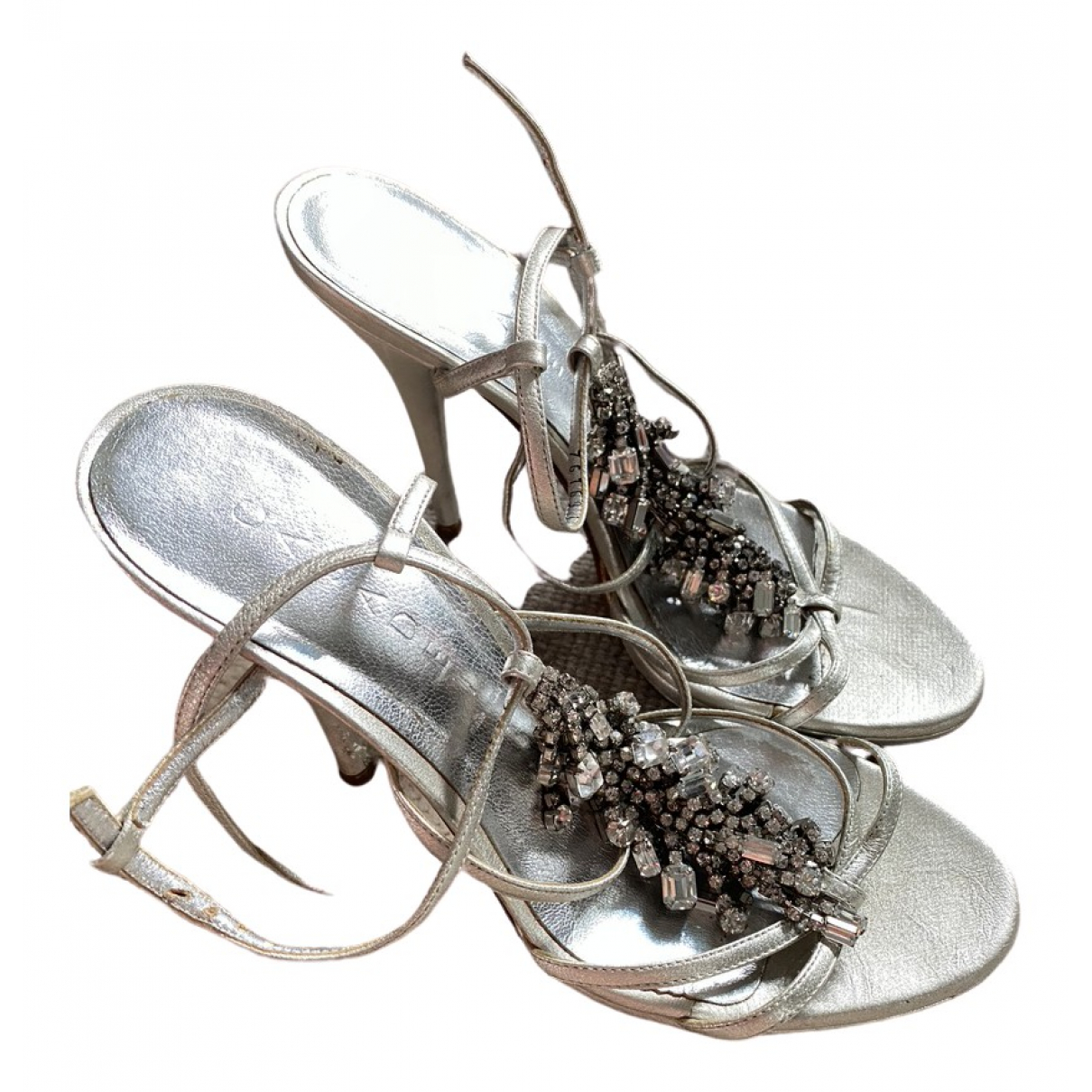 Casadei \N Silver Leather Sandals for Women 39 EU