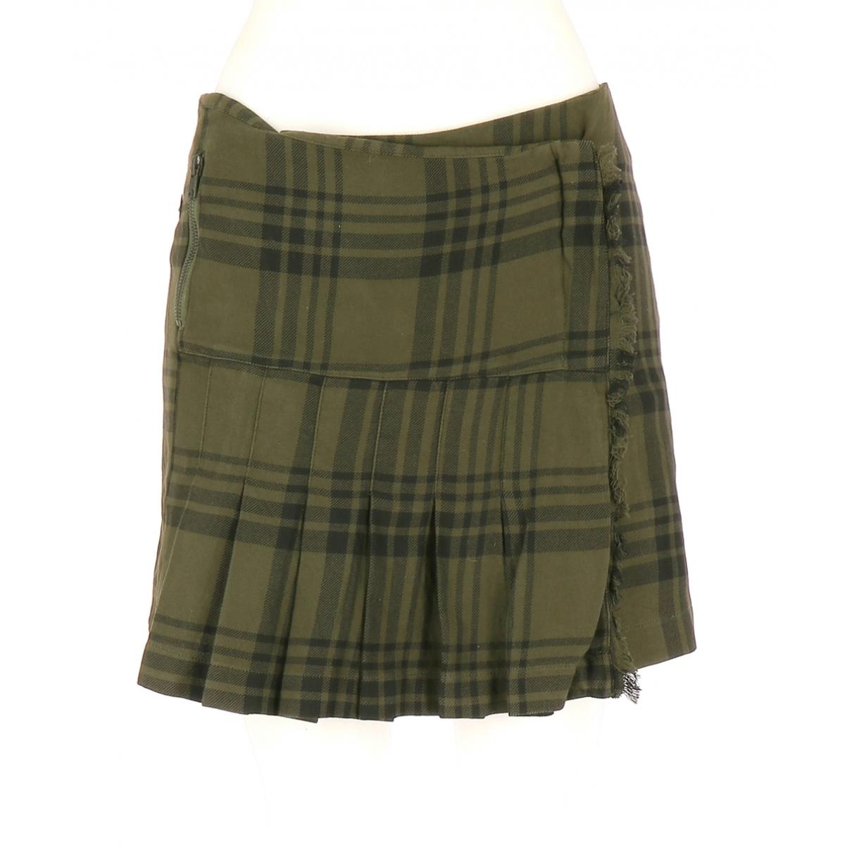 Ikks \N Khaki Cotton skirt for Women 38 FR