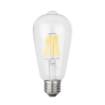 ST19 Dimmable Filament LED Bulb 6W 60W Equivalent E26 2700K 600 Lumens