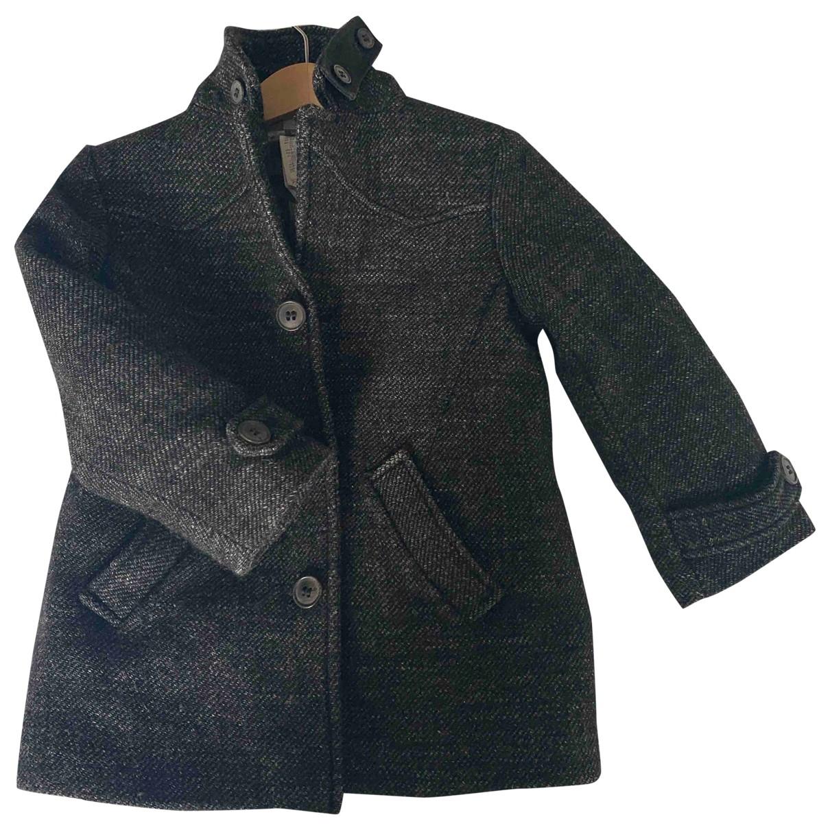 Bonpoint \N Jacke, Maentel in  Grau Wolle