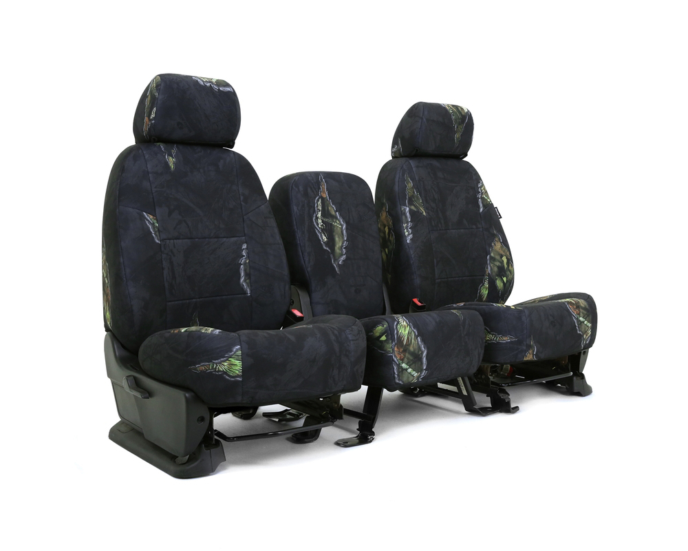 Coverking CSCMO12TT7601 Skanda Custom Seat Covers 1 Row Neosupreme Mossy Oak Eclipse Solid Rear Toyota Tundra 2007-2013
