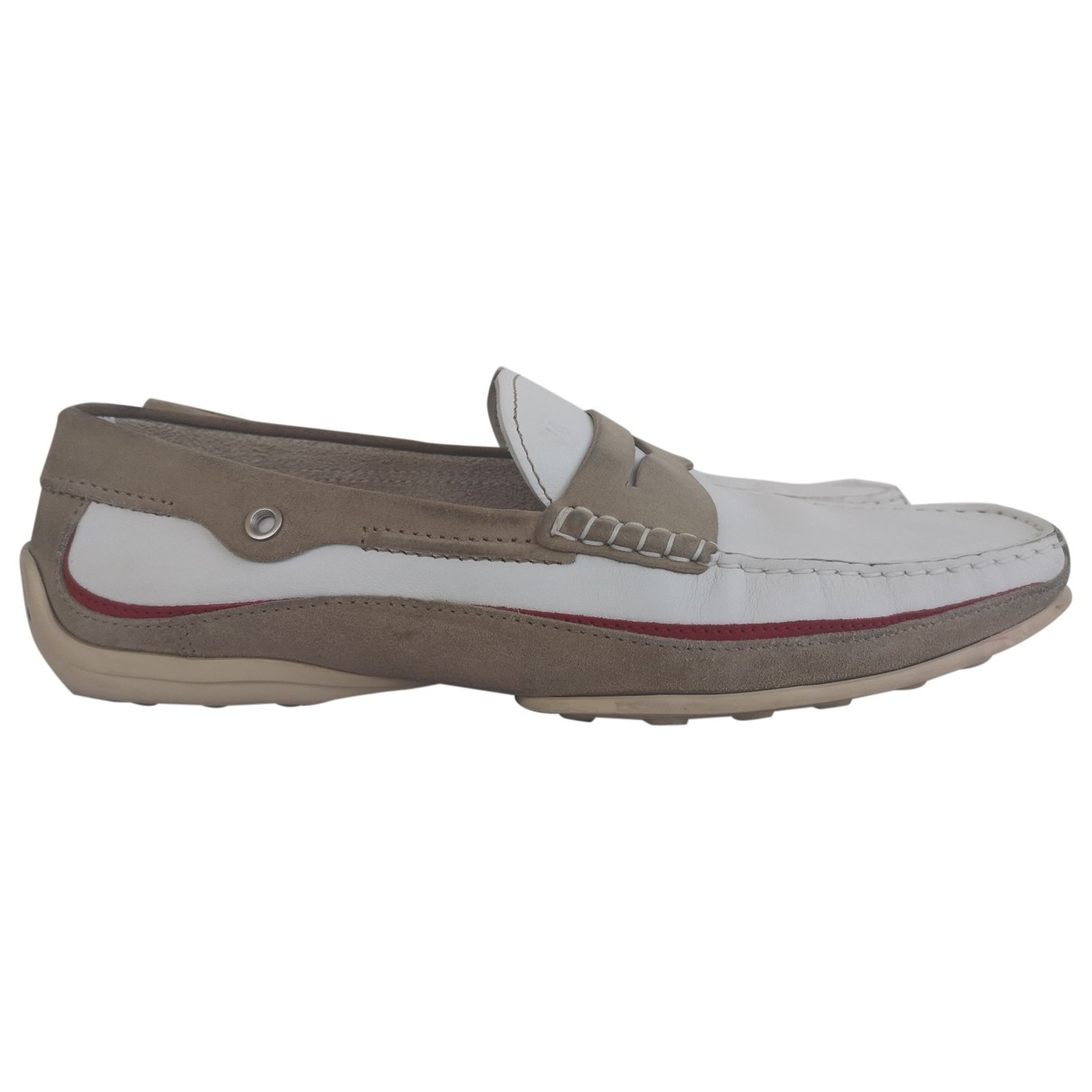 Tod's \N White Leather Flats for Men 44 EU