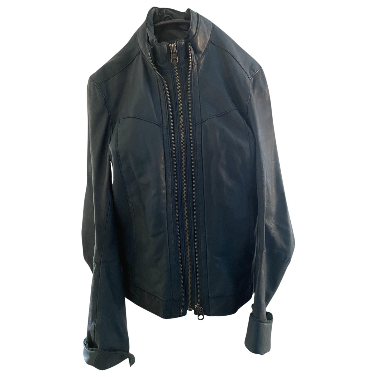 Zadig & Voltaire \N Blue Leather Leather jacket for Women L International
