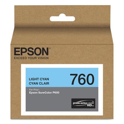 Epson 760 T760520 cartouche d'encre originale cyan clair