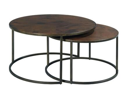 Sanford Collection 553-911 Round Cocktail Table in Acid Washed Copper and Antiqued