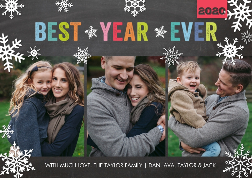 Christmas Photo Cards 5x7 Cards, Premium Cardstock 120lb, Card & Stationery -Holiday 2020 Best Year Ever by Tumbalina