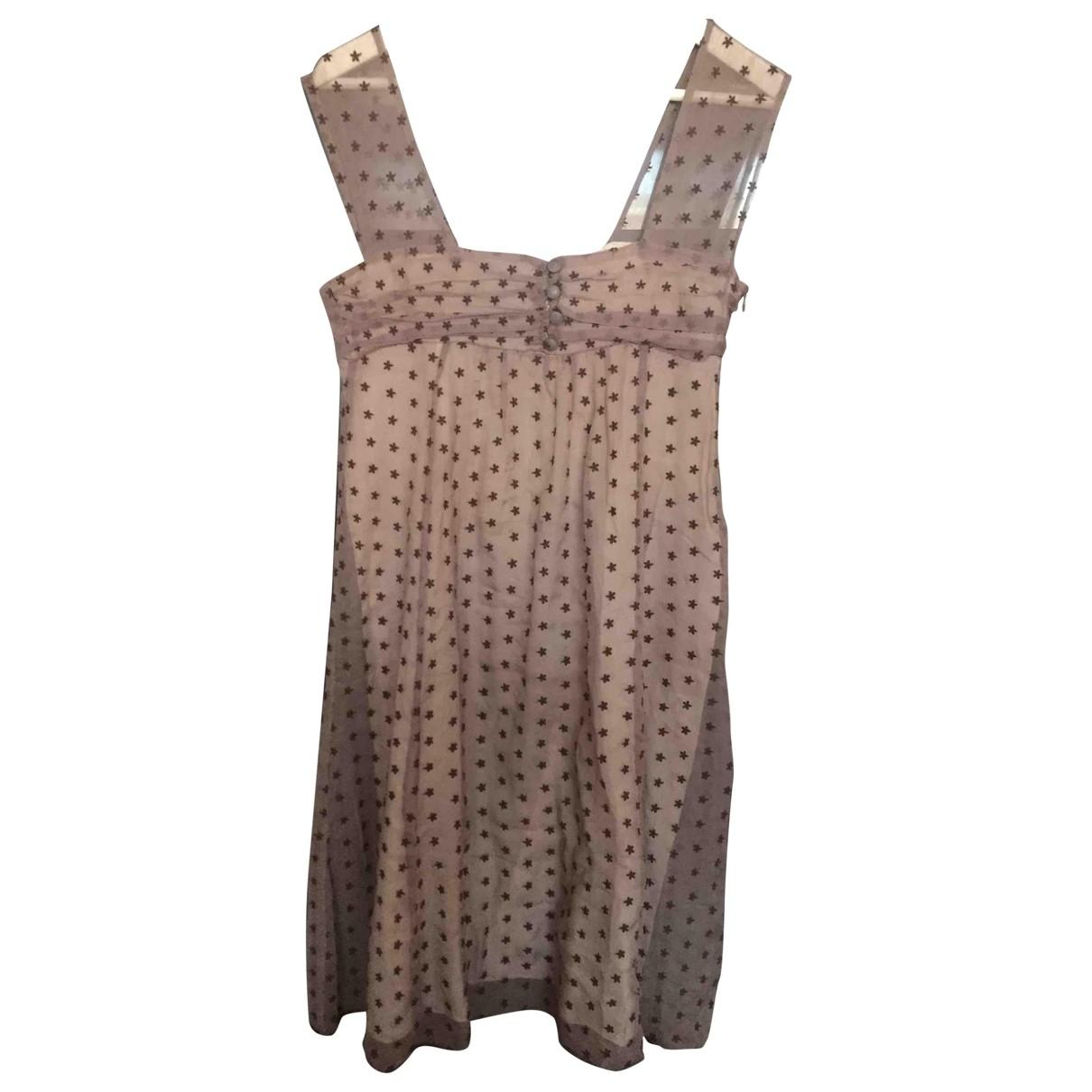 Maje \N Kleid in  Lila Seide