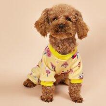 Cartoon Graphic Dog Pajamas