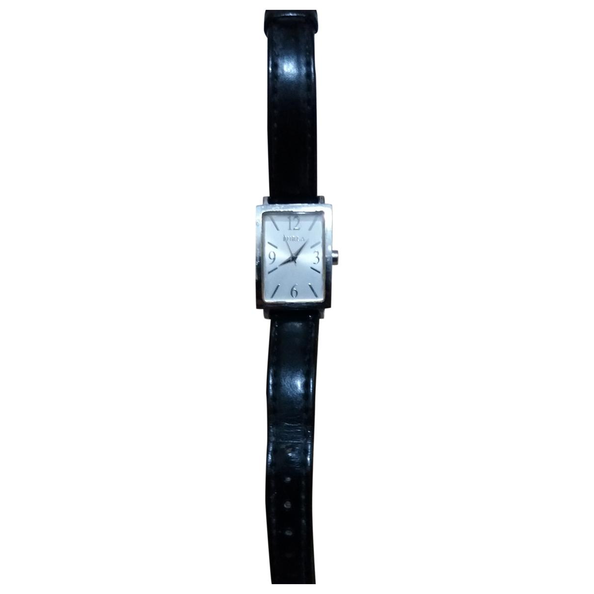 Furla \N Uhr in  Schwarz Stahl