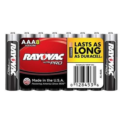 Rayovac piles alcalines industrielles AAA, 8 paquets