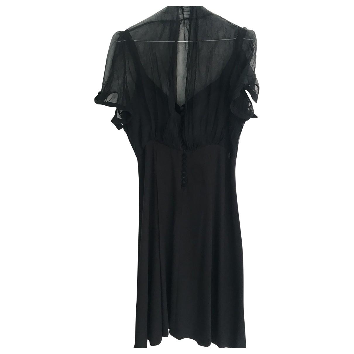 Galliano \N Kleid in  Schwarz Baumwolle - Elasthan
