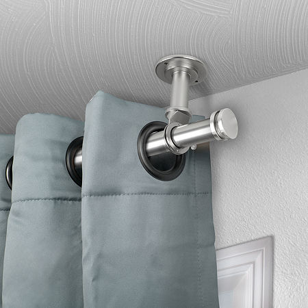 Rod Desyne Bun Ceiling Curtain Rod, One Size , Silver