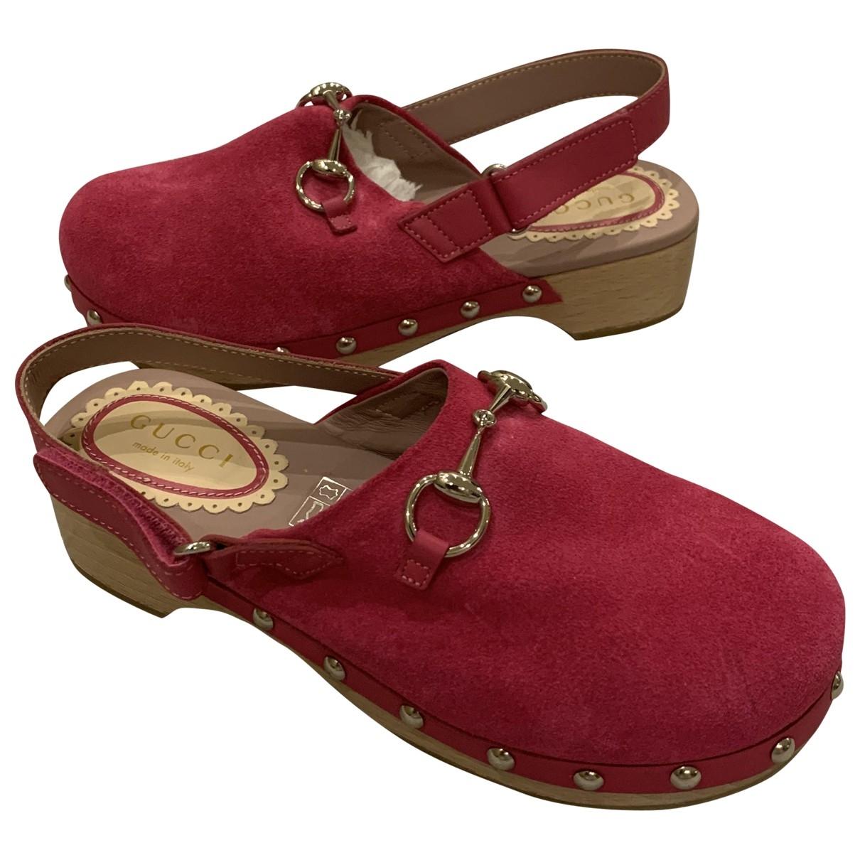 Gucci - Sandales   pour enfant en suede - rouge