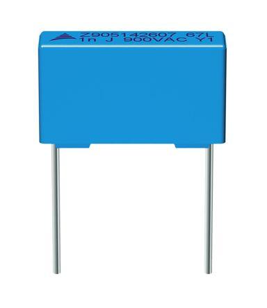 EPCOS 1μF Polypropylene Capacitor PP 277 V ac, 520 V dc ±10% Tolerance B32672Z Series (5)