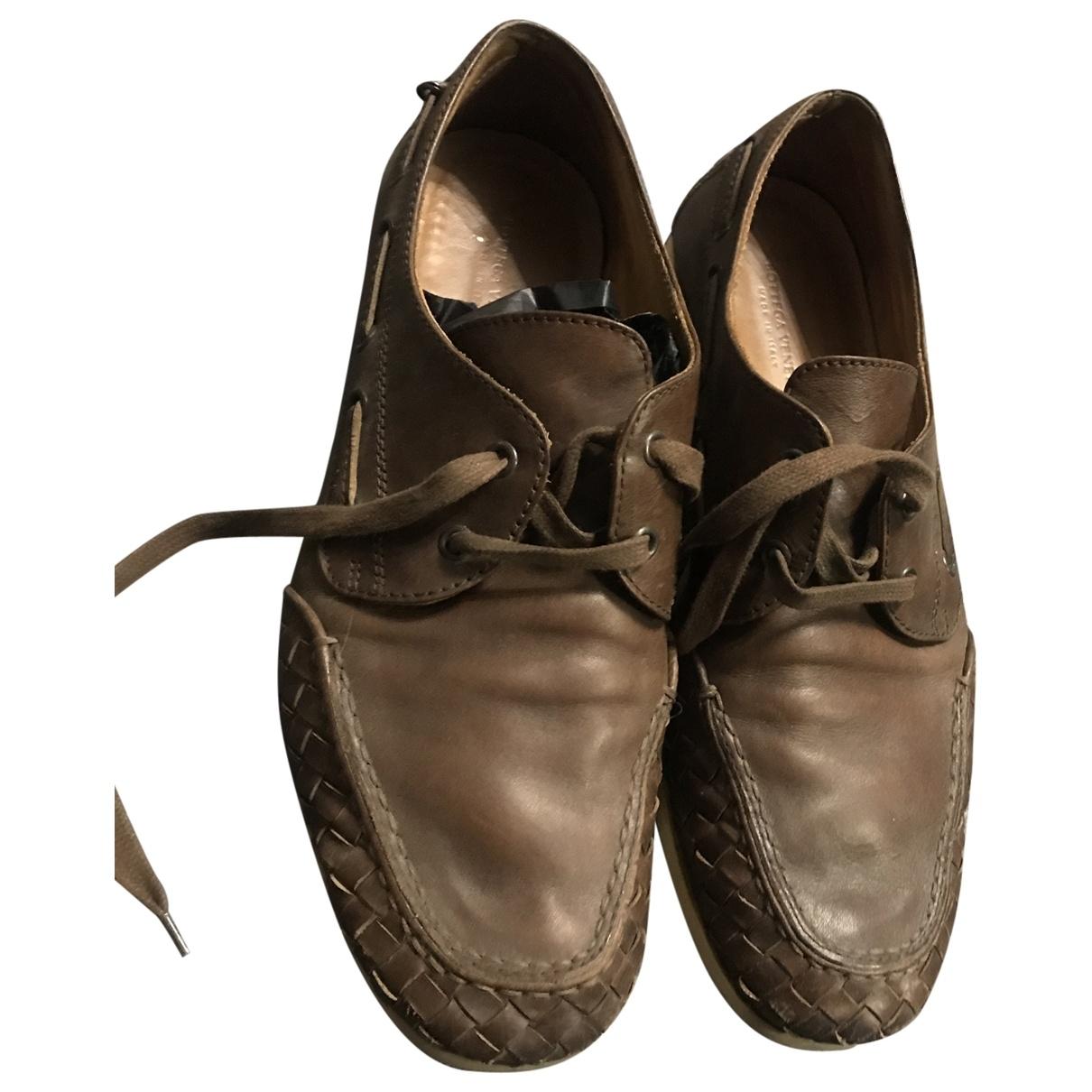 Bottega Veneta \N Brown Leather Lace ups for Men 9.5 UK